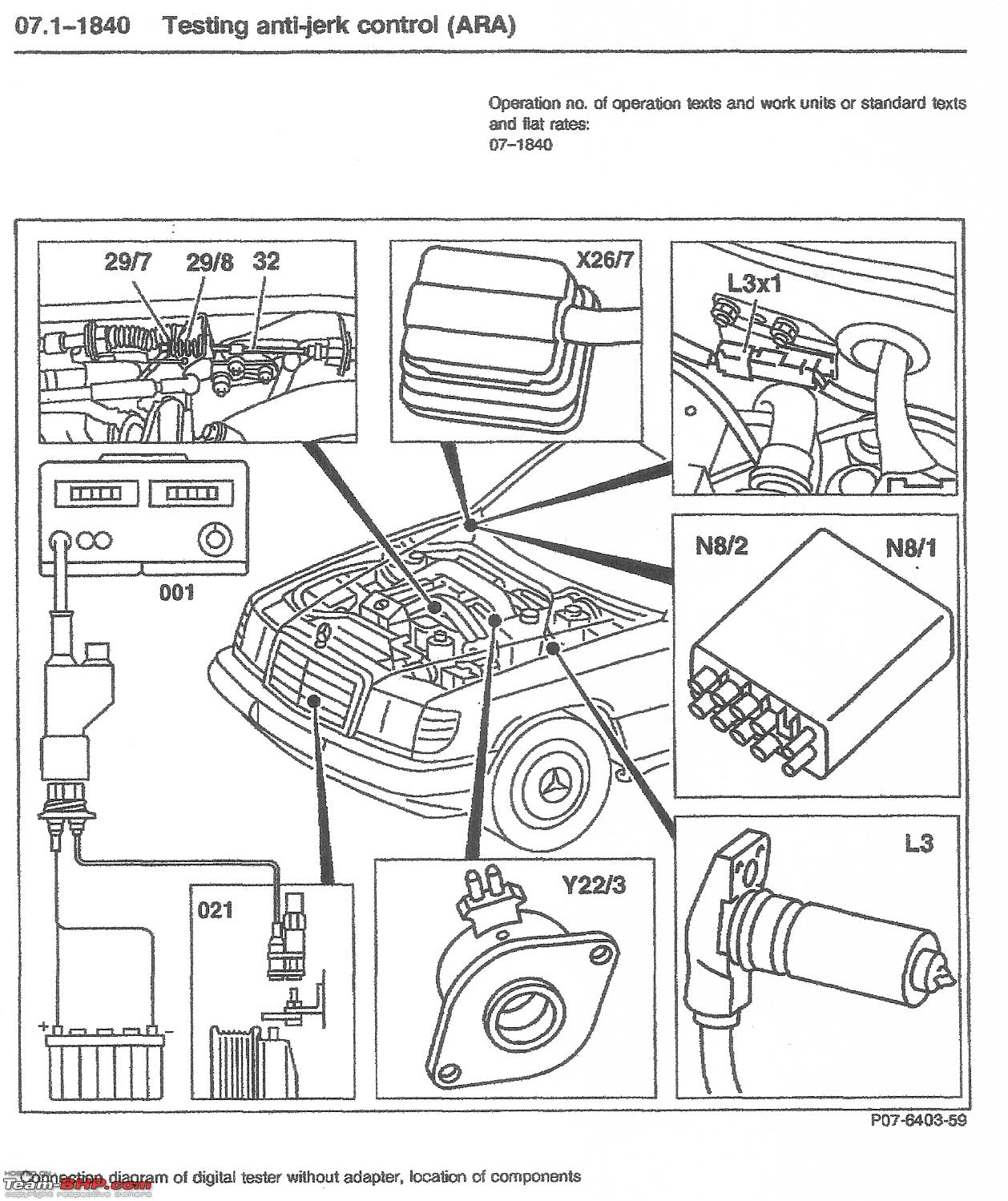 Mercedes Benz Engine Wiring Schematics Library W124 E Class Support Group Antijerk Control Ara