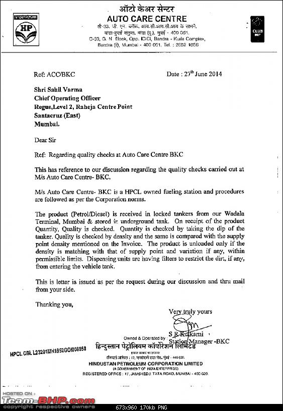 Audi A6 engine problems. EDIT: Court orders Audi to repair the car-hp-letter.png