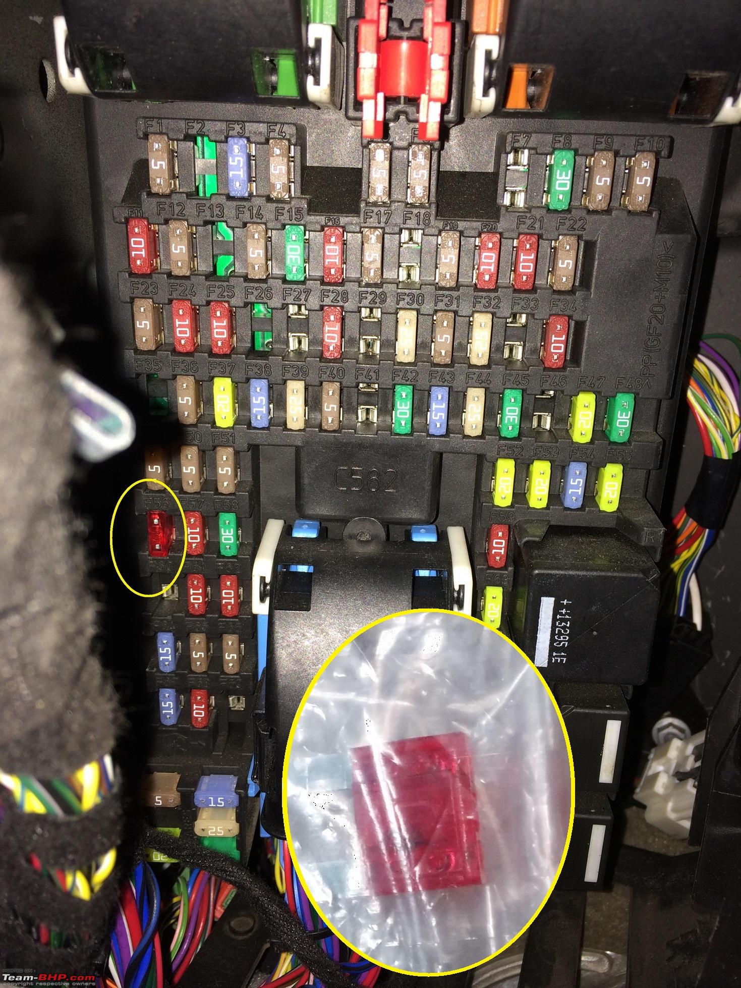 on where is the fuse box on a land rover defender