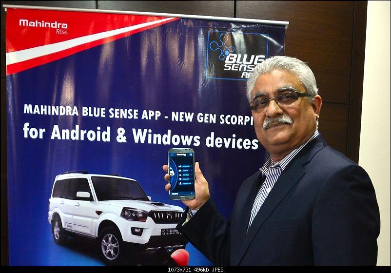 Mahindra's BLUE SENSE app for the XUV500 and new Scorpio-mr-rajan-wadhera-launchig-blue-sense-app.jpg