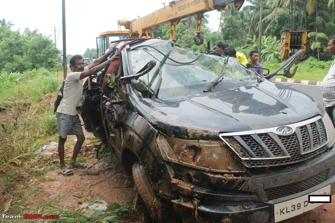 Mahindra Xuv500 W8 Severe Topple But Side Airbags Didn T