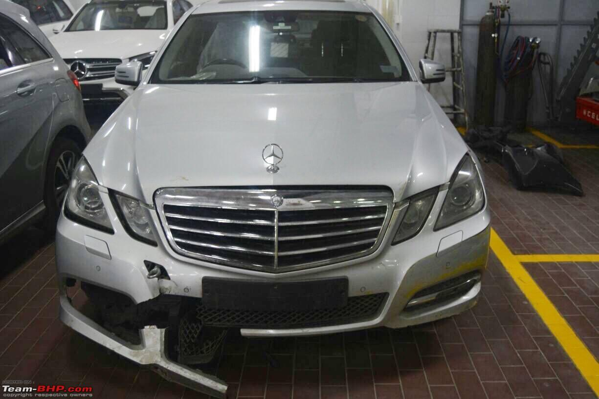 Not So Major Accident In Mercedes E Class 15 Lakh Rupees 6 Months