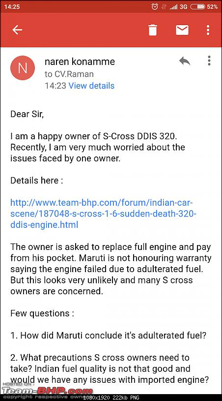 Maruti S-Cross 1.6L – Sudden death of the 320 DDiS engine-screenshot_20170521142529382_com.google.android.gm.png