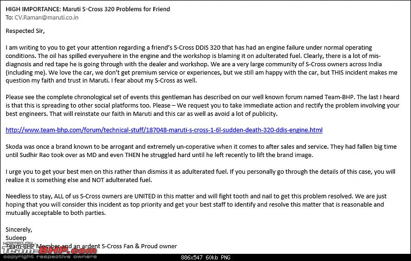 Maruti S-Cross 1.6L – Sudden death of the 320 DDiS engine-emailcvraman.png