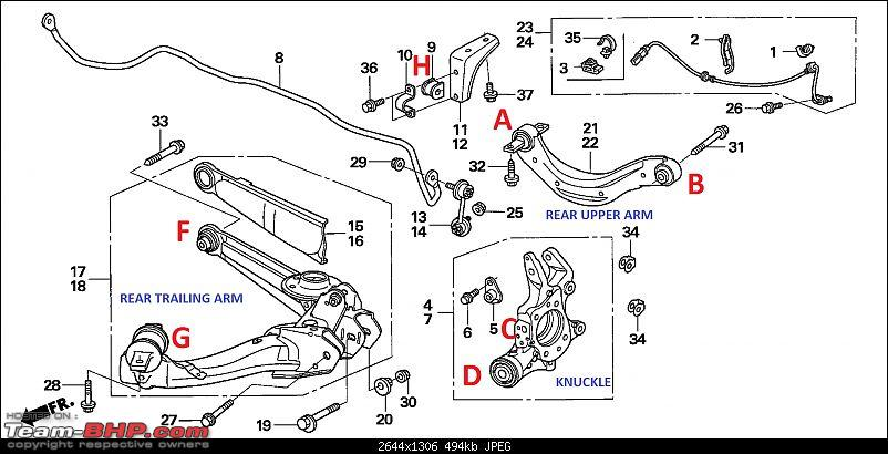 pictorial  rear suspension check  u0026 bush replacement on my