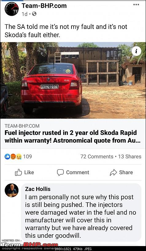 Fuel injector rusted in 2 year old Skoda Rapid within warranty! Astronomical quote from Autobahn-screenshot_20200921041752__01.jpg