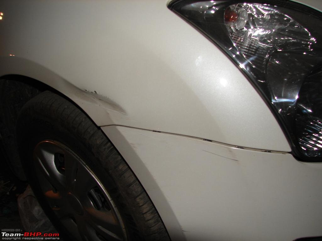 Swift Fender Amp Bumper Damaged Repair Amp Repaint Team Bhp
