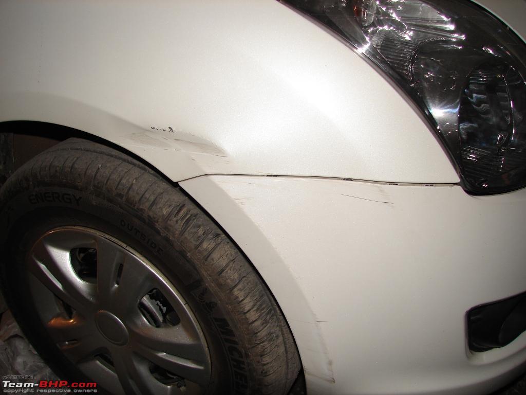 Cost To Repaint A Car >> Swift Fender & Bumper Damaged - Repair & Repaint - Team-BHP