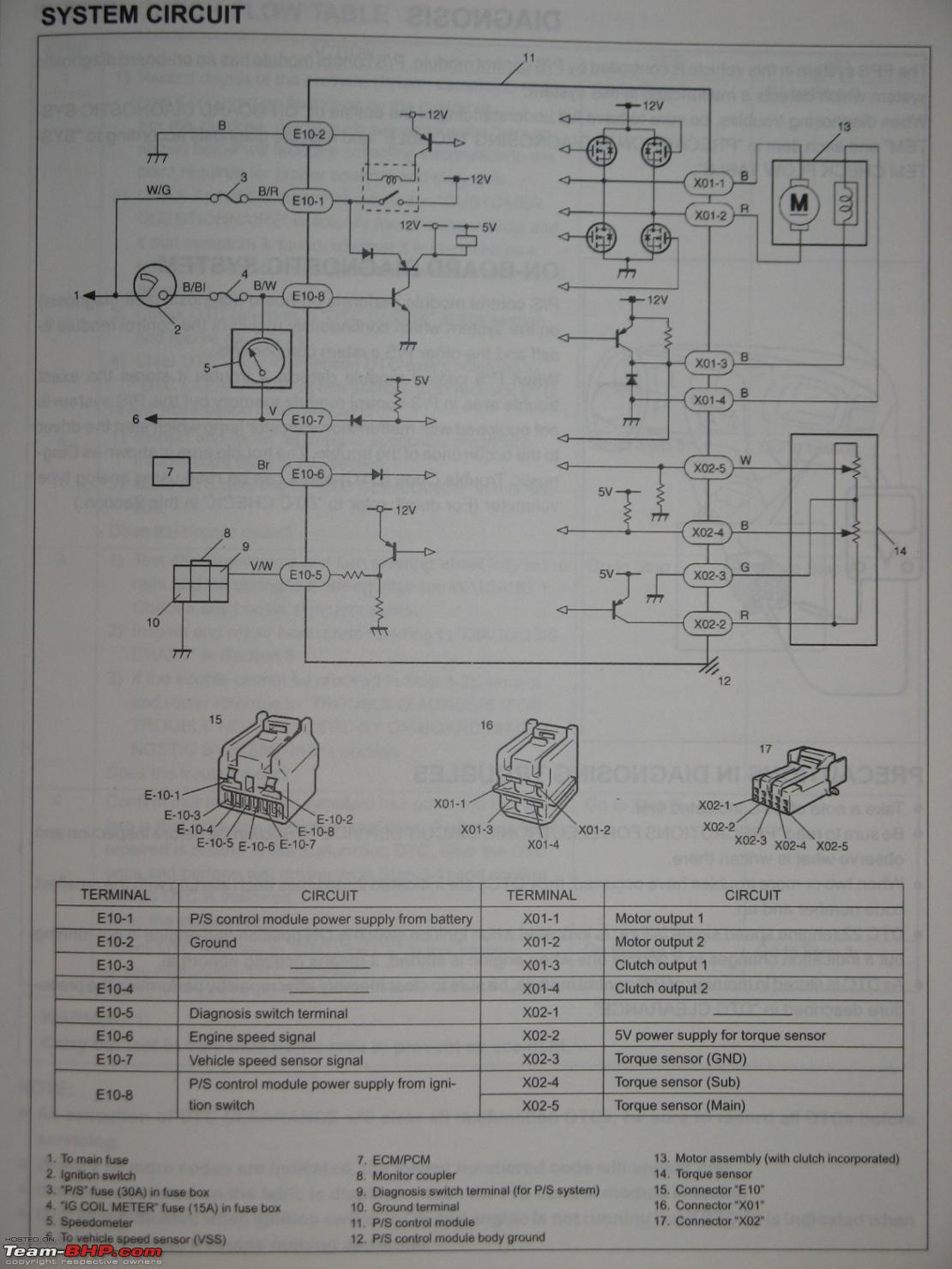 how does electric power steering work team bhp rh team bhp com 2014 Maruti Zen maruti zen wiring diagram pdf
