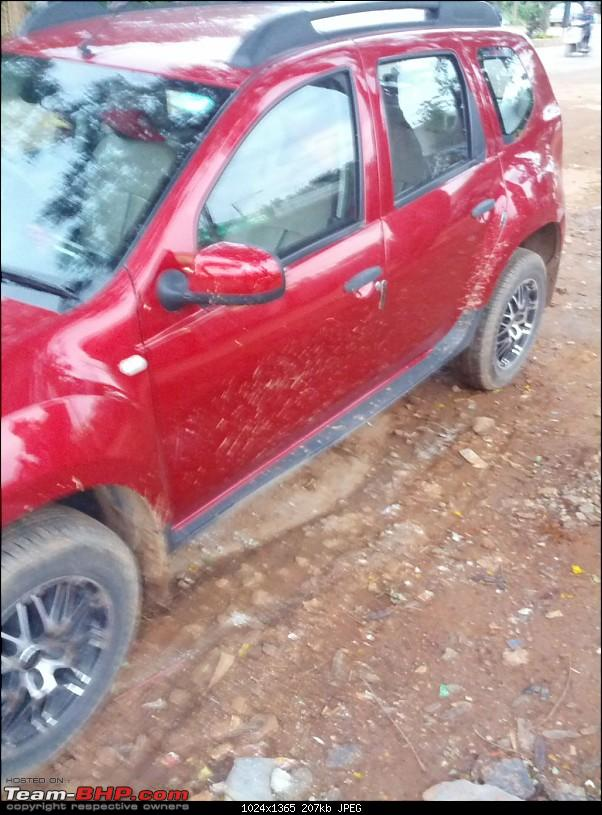 My Renault Duster 110 BHP RXL. EDIT: 25000 kms, Phase 2 accessories report-mudsprinkle2.jpg