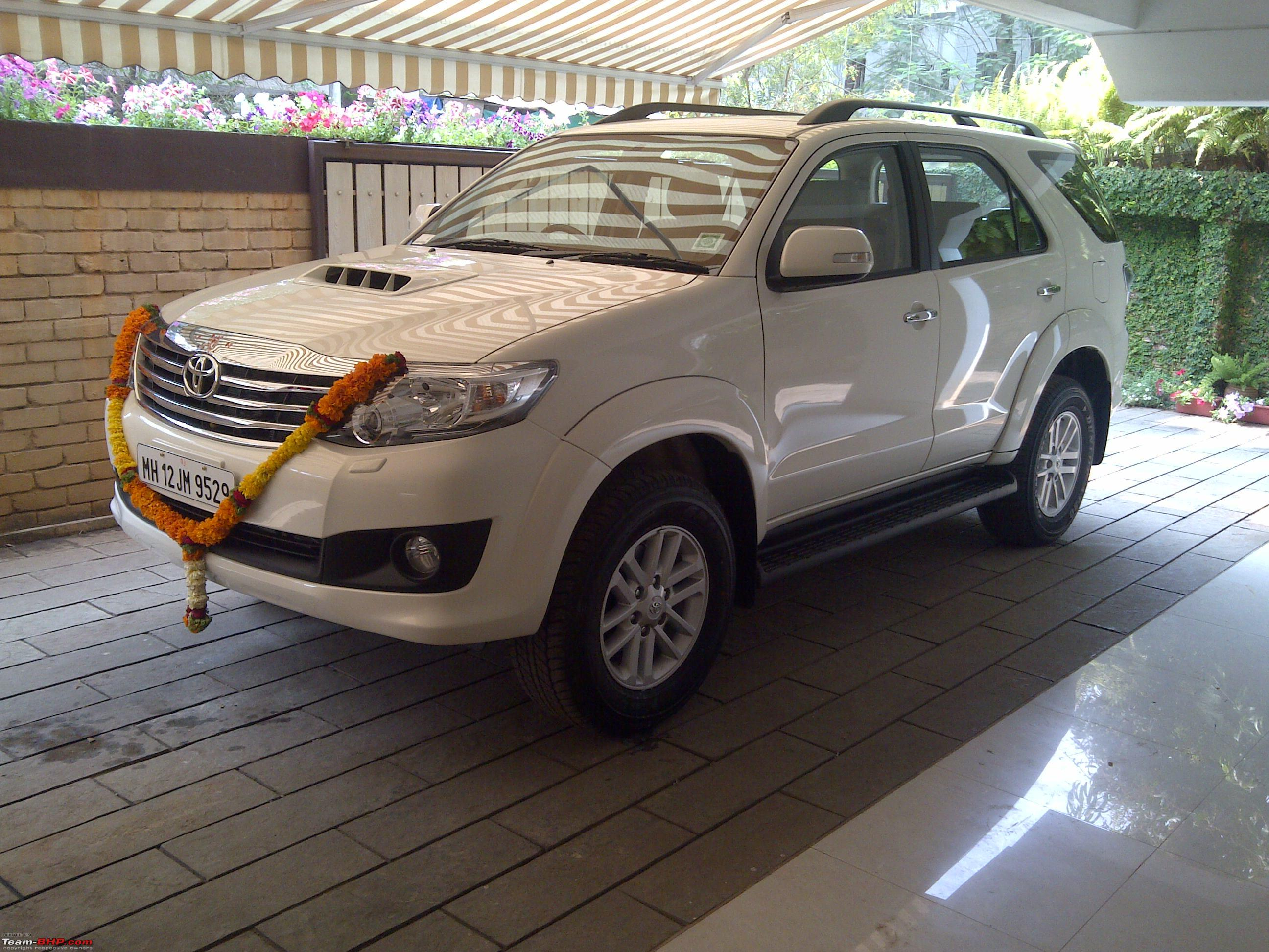 A Toyota Fortuner 5 Speed At Comes Home Team Bhp