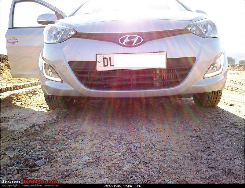 From SUV to Hatchback - What a feeling! Hyundai i20 CRDi Sportz-i20-drl-front.jpg