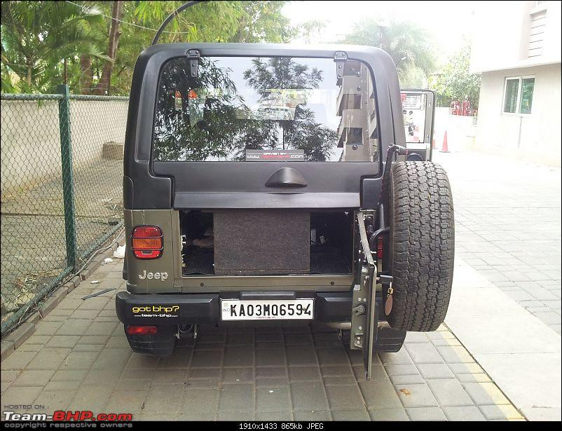 Call of the wild - Mahindra Thar CRDe-rear-tailgate-open.jpg