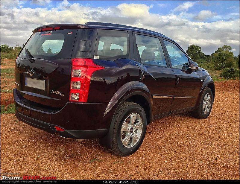 My Opulent Purple Mahindra XUV500 W8 FWD - Going with the heart-r3q.jpg