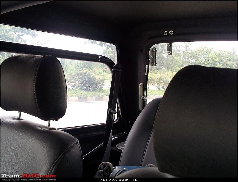 Call of the wild - Mahindra Thar CRDe-rear-seat-belts.jpg