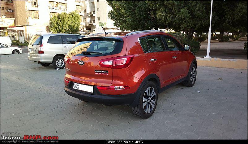 It�s orange and it's sexy � My 2014 Kia Sportage-rear-side-profile.jpg