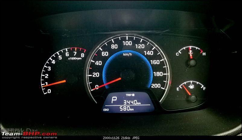Annyeonghaseyo or Hello from Korea - Hyundai Grand i10 AT-speedo-600-kms.jpg