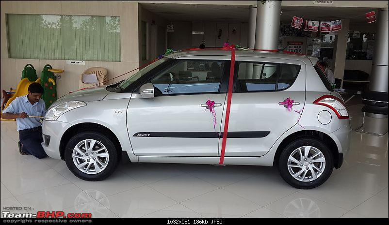 Happy Birthday Dad - From all of us and your Maruti Swift ZXi! EDIT: 10,000 km up!-20140806_124028.jpg