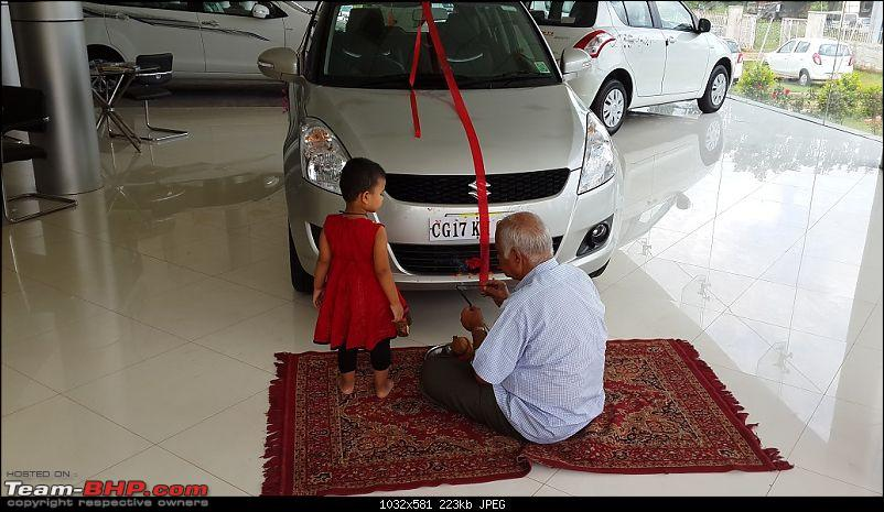 Happy Birthday Dad - From all of us and your Maruti Swift ZXi! EDIT: 10,000 km up!-20140806_125927.jpg