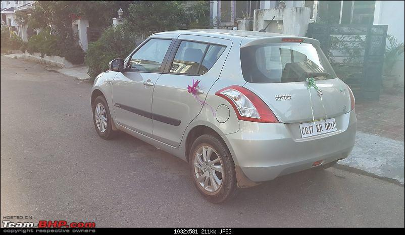 Happy Birthday Dad - From all of us and your Maruti Swift ZXi! EDIT: 10,000 km up!-20140806_171702.jpg