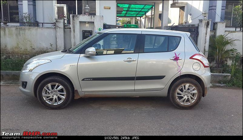 Happy Birthday Dad - From all of us and your Maruti Swift ZXi! EDIT: 10,000 km up!-20140806_171714.jpg