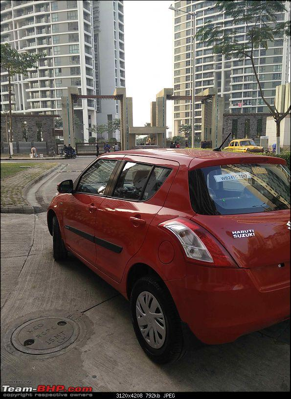 My Red Blazer Maruti Swift VDI with ABS-left-rear-quarter.jpg