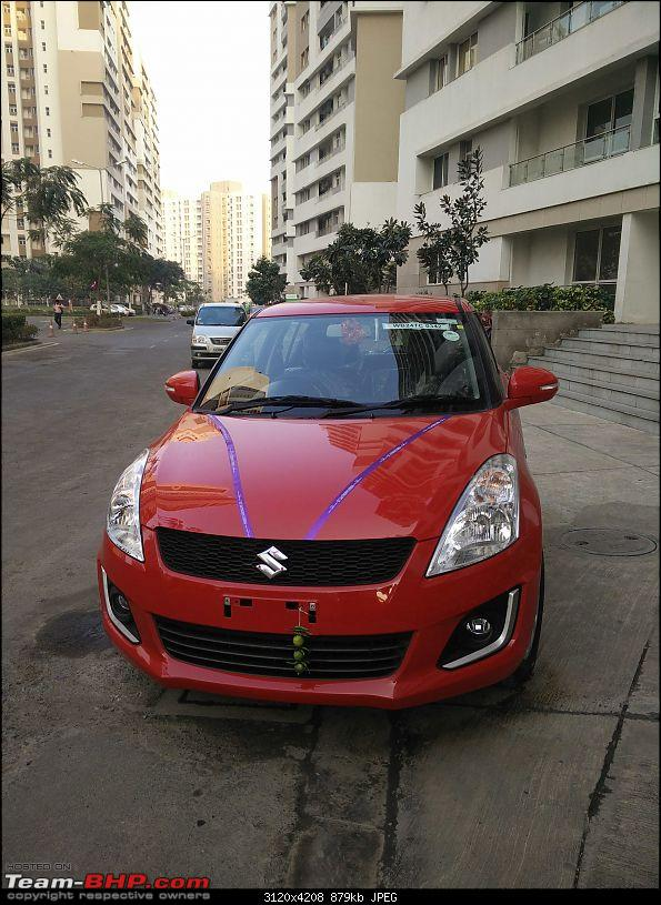 My Red Blazer Maruti Swift VDI with ABS-front-view.jpg