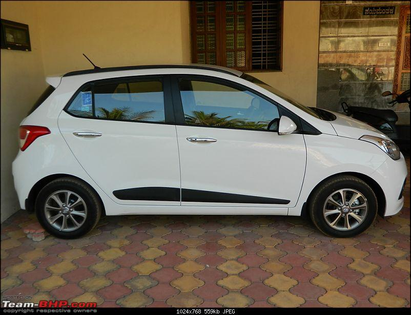 Our White Knight Hyundai Grand I10 Asta O 1 2 Team Bhp