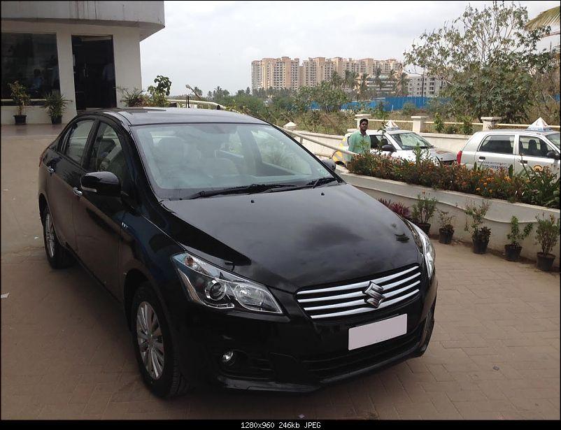 Ownership review of my black Maruti Suzuki Ciaz ZXi-front.jpg