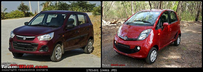'Chasing Life' with our Maruti Alto K10 VXi AMT (Fire Brick Red). EDIT: 10,000 km up-front-3-quarters.jpg