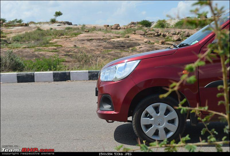 'Chasing Life' with our Maruti Alto K10 VXi AMT (Fire Brick Red). EDIT: 10,000 km up-front-overhang.jpg