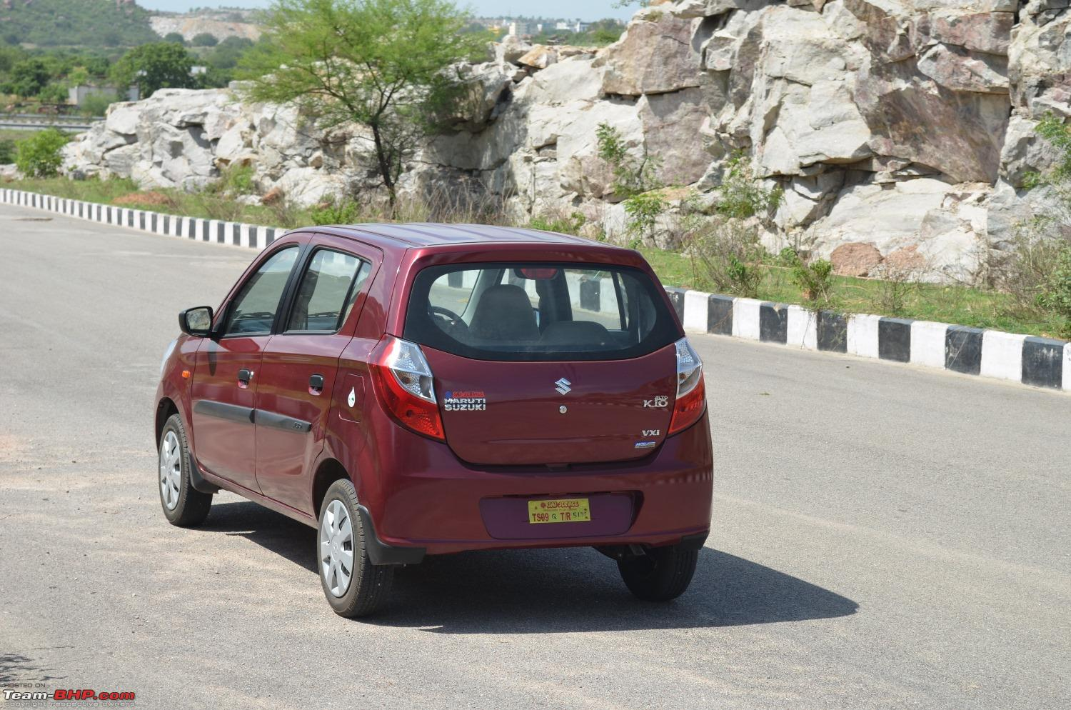 Fire Brick Red : Chasing life with our maruti alto k vxi amt fire