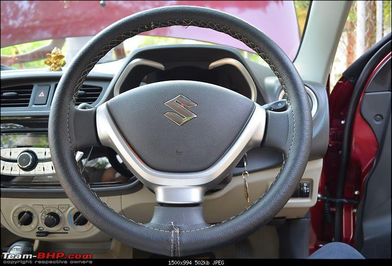 'Chasing Life' with our Maruti Alto K10 VXi AMT (Fire Brick Red). EDIT: 10,000 km up-2.-steering-wheel-cover.jpg
