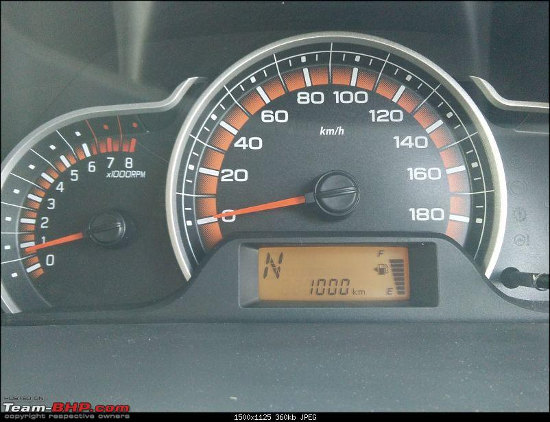'Chasing Life' with our Maruti Alto K10 VXi AMT (Fire Brick Red). EDIT: 10,000 km up-1000-kms-up.jpg