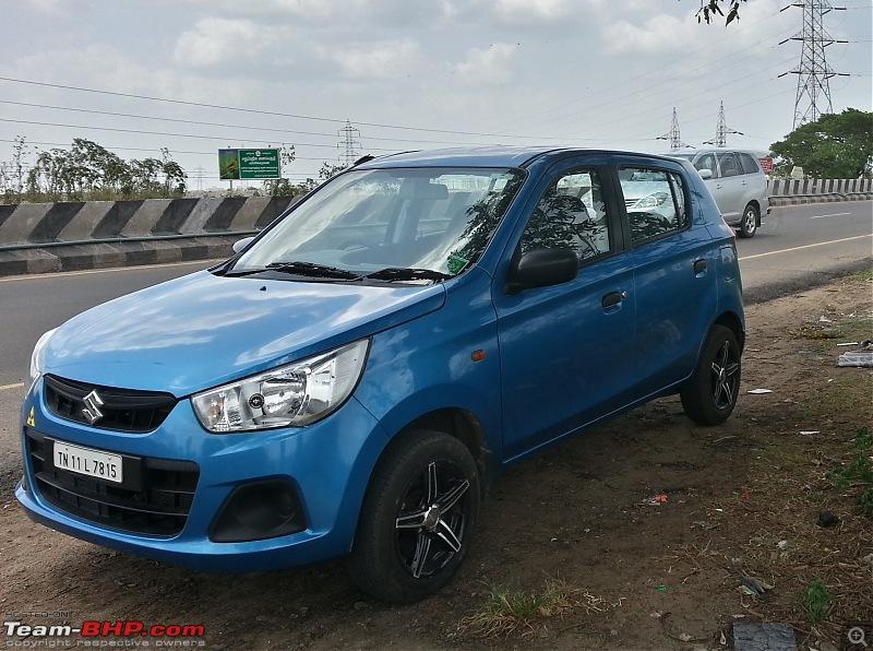 My Go-kart. Maruti Alto K10 VXi AMT, Cerulean Blue - 40,000 km update-02.jpg