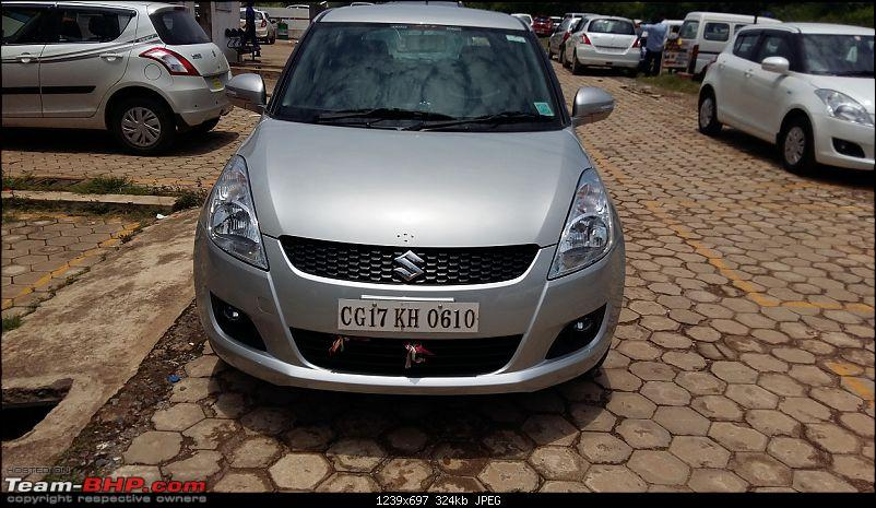 Happy Birthday Dad - From all of us and your Maruti Swift ZXi! EDIT: 10,000 km up!-20150818_120759.jpg
