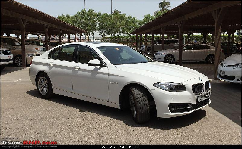 Love from Dubai - My BMW 520i F10-parting-shot-1.jpg <br /> <br /> <b>Background, History and why 520i</b><br /> Coming from Mumbai, I am moving from a dull low-revving 1.2L Chevrolet Beat to a high-revving 2.0L turbo BMW 5 series. (Yikes!) <br /> <br /> And the Black Beauty. Parked in Jodhpur now.<br /> <a href=