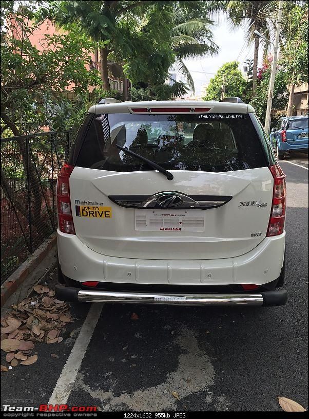 The New Age Mahindra XUV5OO W8 FWD - My Battle Cat's Roar EDIT: Now sold!-rear_number_fudged.jpg