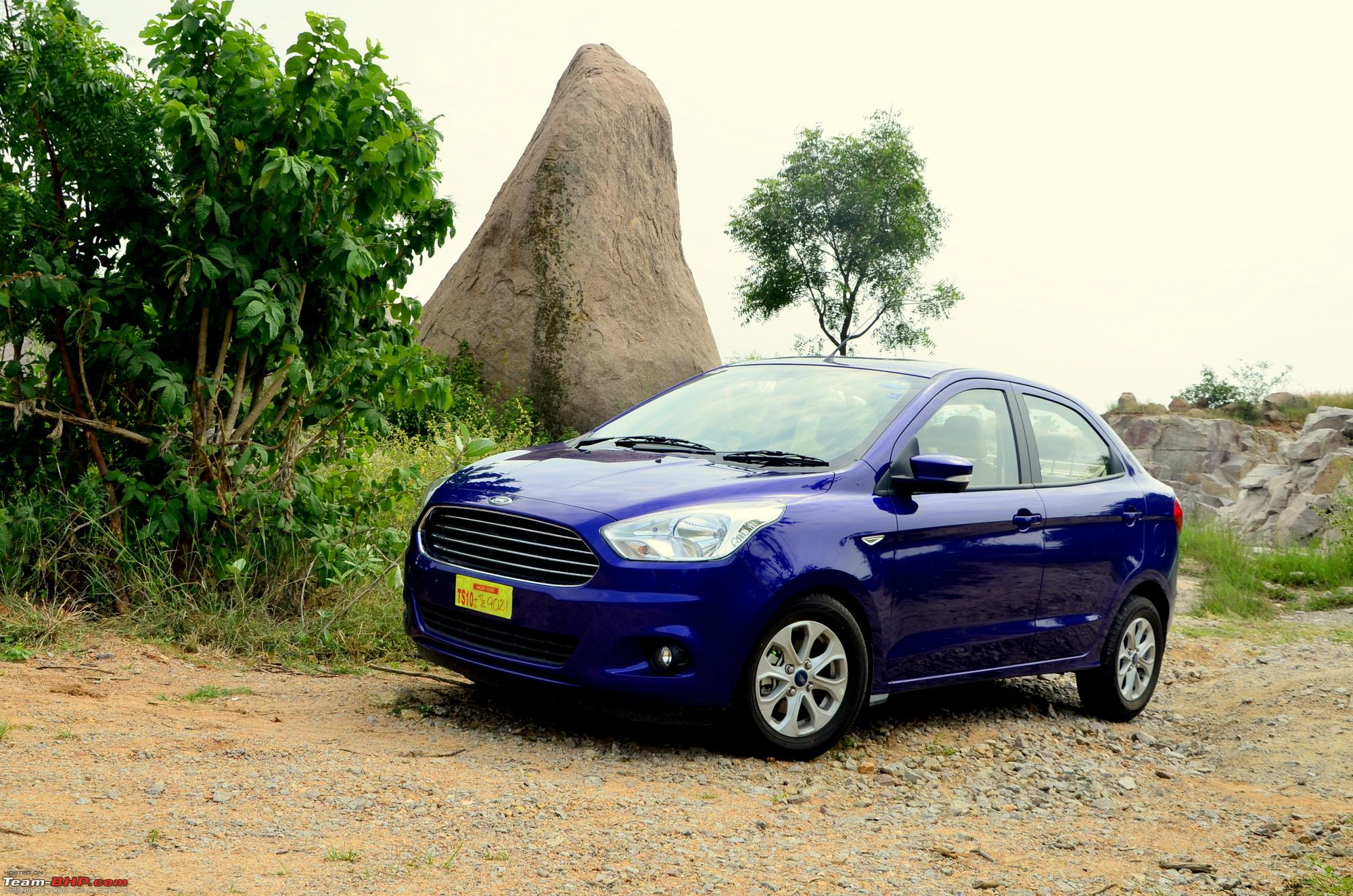 Ford aspire tdci my blue bombardier flying low on tarmac edit 30 000kms completed team bhp