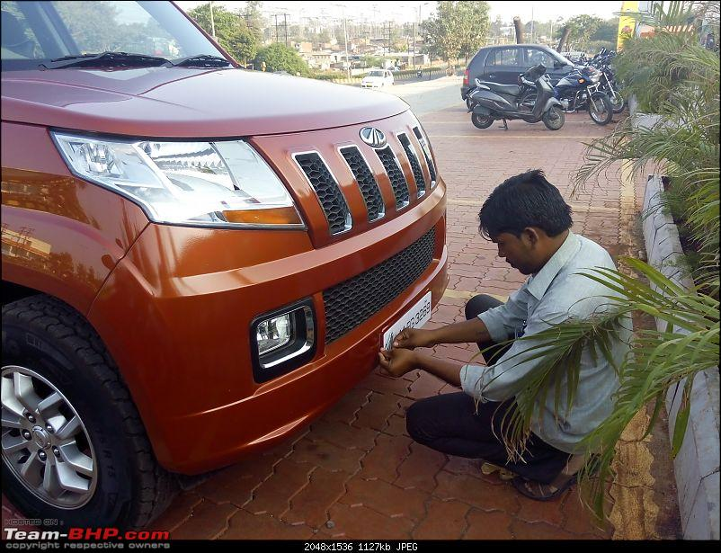 Orange Tank to conquer the road - Mahindra TUV3OO owner's perspective-img_20151205_161815.jpg