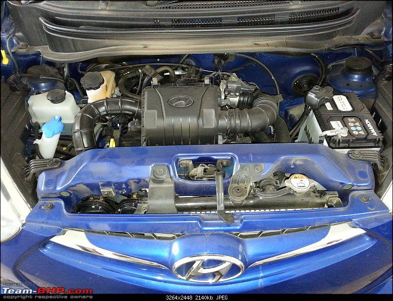 The Cute Little Blue-bee: Hyundai Eon Sportz!-engine_bay.jpg