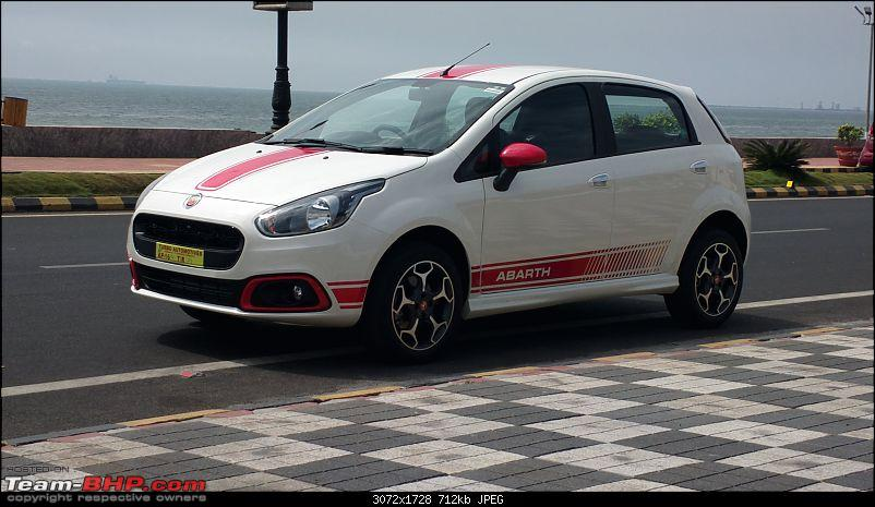 The White Scorpion - Fiat Abarth Punto-front-three-quarters.jpg