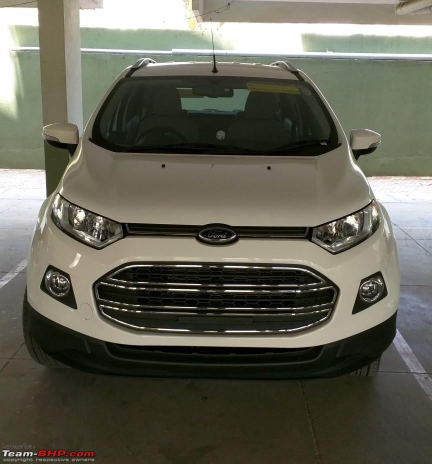 A diamond white ford ecosport automatic joins the family case of 4th time lucky