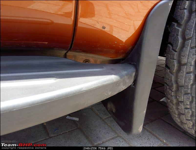 Orange Tank to conquer the road - Mahindra TUV3OO owner's perspective-rhs-front-mud-flap.jpg