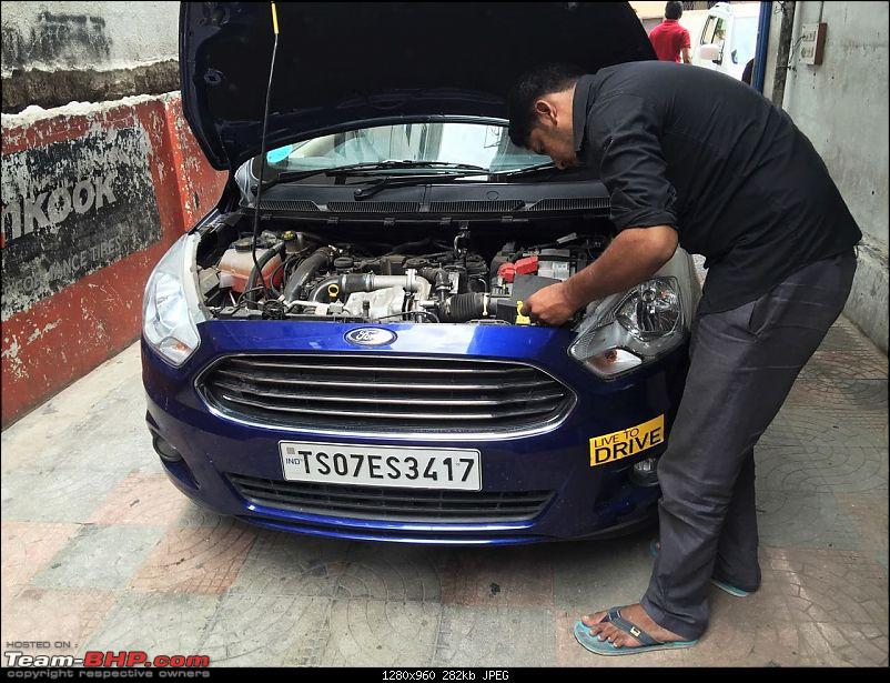 Ford Aspire TDCi : My Blue Bombardier, flying low on tarmac EDIT : 35,000kms COMPLETED-carhorn.jpg