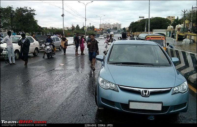 The Joy of Living a Dream - Honda Civic S MT (Pre-Owned)-20151117chennai-rains-3.jpg