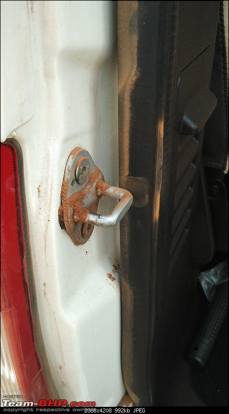 Tale of a Tata Safari Storme EX. EDIT: 20,000 km update-dust-latch.jpg
