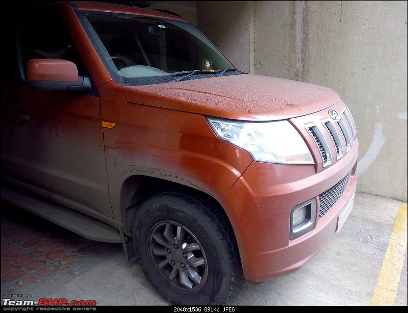 Orange Tank to conquer the road - Mahindra TUV3OO owner's perspective-img_20160730_083139.jpg