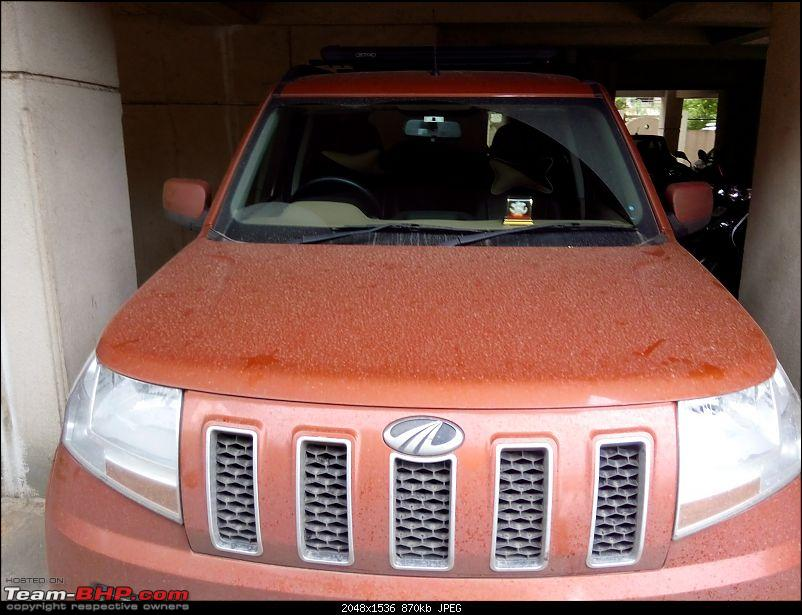 Orange Tank to conquer the road - Mahindra TUV3OO owner's perspective-img_20160730_083152.jpg