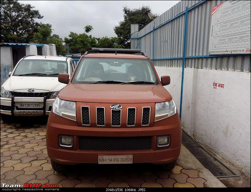 Orange Tank to conquer the road - Mahindra TUV3OO owner's perspective-img_20160730_085653.jpg